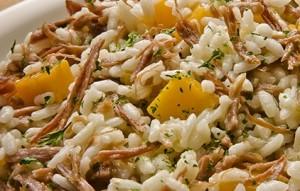 Risoto com o típico arroz arbóreo