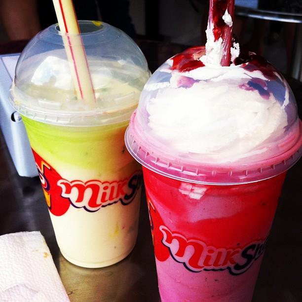 Bebidas refrescantes na Milkshakeria