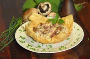 Prato especial do Blumenau Gastronômico: Risoto de cogumelos portobello com mignon      grelhado do Figueiroa - aprenda a fazê-lo aqui, no Portal Sabores (Divulgação)