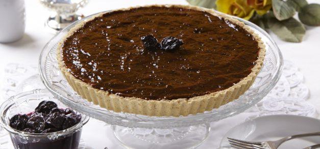Sobremesa: Cheesecake de Aveia com Calda de Ameixa