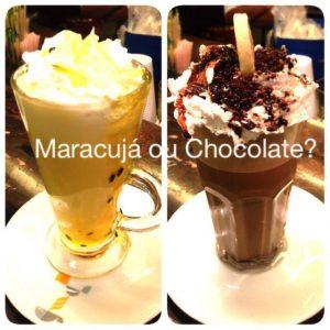 A Costa Mendes Delicatessen também oferece bebidas irresistíveis, como esses milk shakes de chocolate e maracujá (Divulgação)
