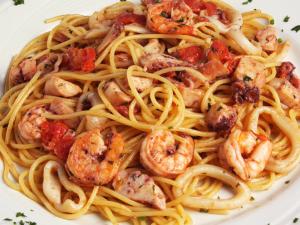 Spaghetti alla Pescatora, com frutos do mar