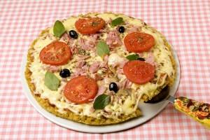Pizza de Mussarela com Presunto