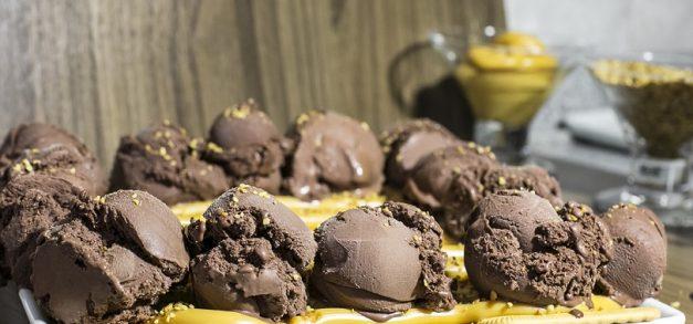 Combinações de sorvetes e biscoitos
