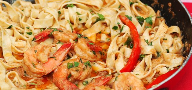 Jantar italiano em casa