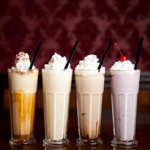 Opções de milk shakes