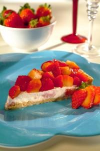 Torta light de morango