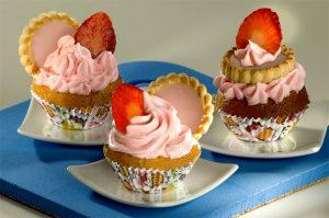 Cupcake de morango com marshmallow (Divulgação)