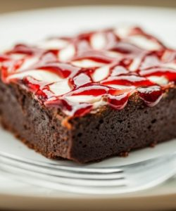 Brownie de frutas vermelhas... Delícia (Divulgação)
