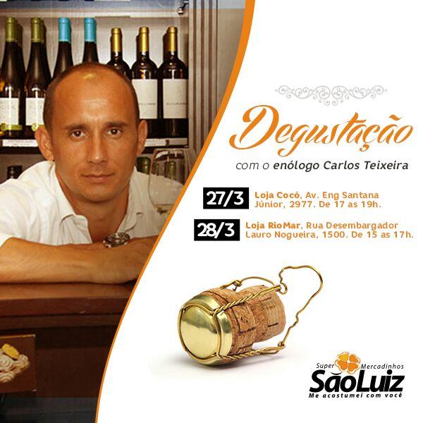 Mercadinhos São Luiz promove degustação de vinhos