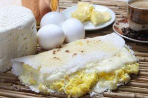 A tapioca com ovo é um clássico...