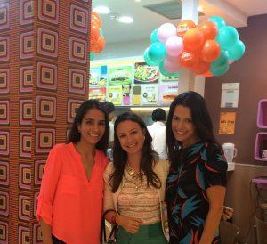 Foto: Eu com a empresaria franqueada Gabriela Andrade e a Diretora da Marca Tostex, Andrea Mendonça