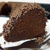 Brigadeirão de chocolate