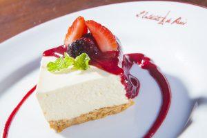 Cheesecake da casa como sobremesa (Foto: Taygoara Martins)
