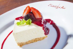 Cheesecake do L'Entrecôte de Paris