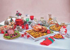 Ceia de Natal completa (com itens como peru, farofa e salada) pode ser encomendada e adquirida (Divulgação)