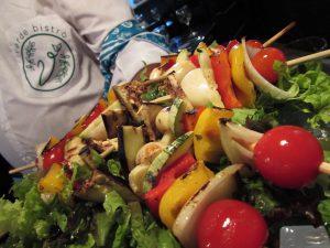 Espetinho Vegetariano do Verde Bistrô