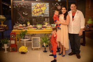 Família: Edson, Patrícia, Edson Augusto e José