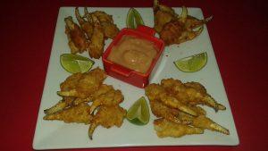 Patinhas de caranguejo e molho no Sushi Ya Bar