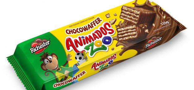 Richester lança Animados Zoo Chocowaffer