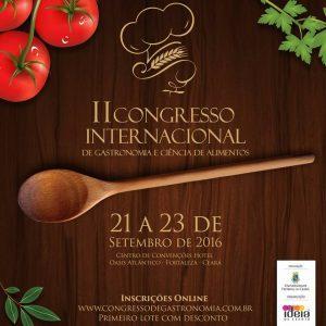 II Congresso Internacional de Gastronomia e Ciência de Alimentos