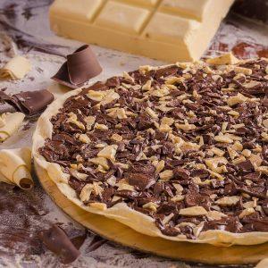 Pizza de chocolate do Pasto & Pizzas