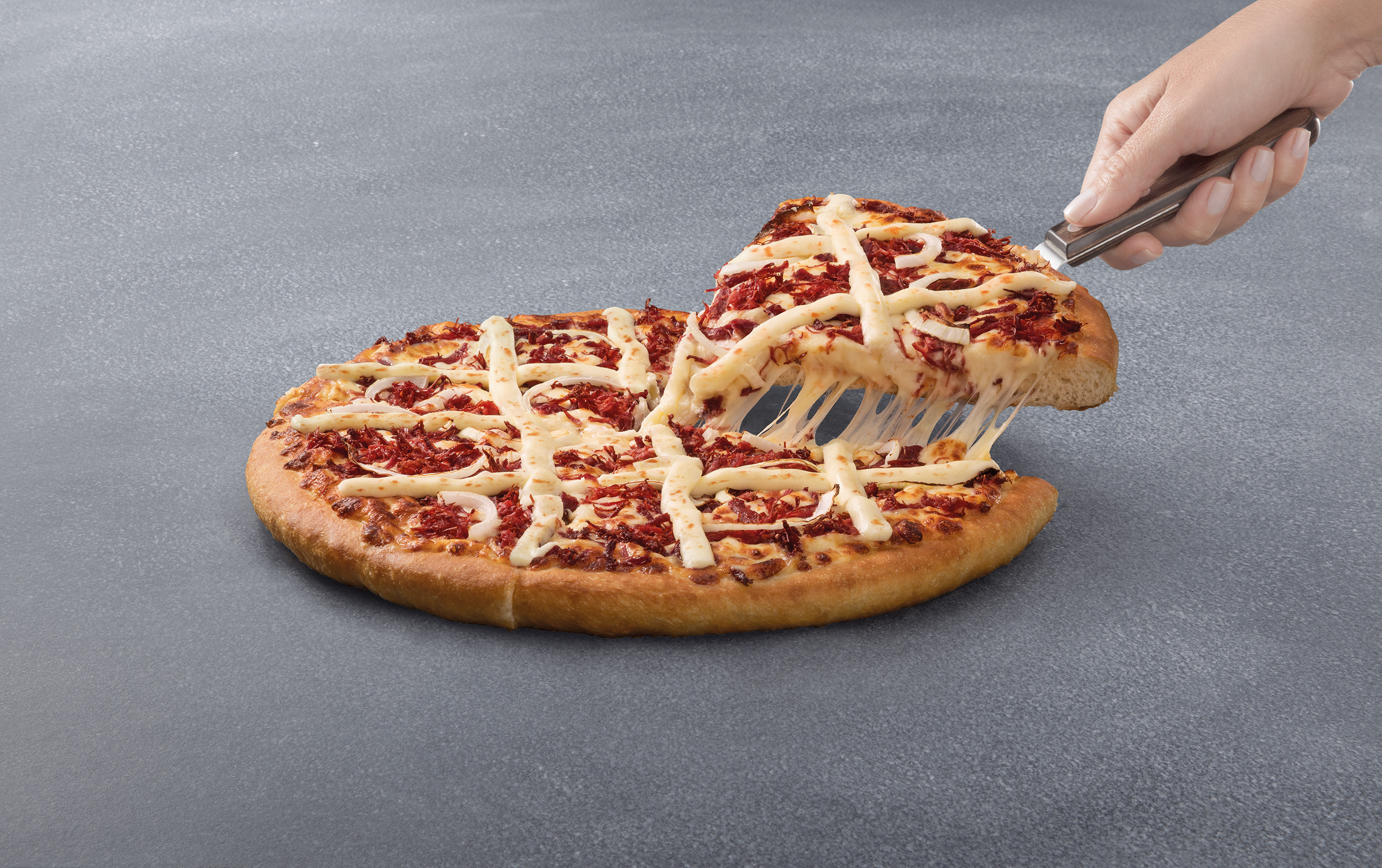 Pizza hut lan a pizza sabor carne seca com requeij o no for Oficinas de pizza hut