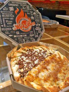 Pizza Hot Chocolate com Banana Sertaneja