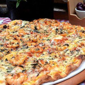 Pizza de camarão da Vignoli