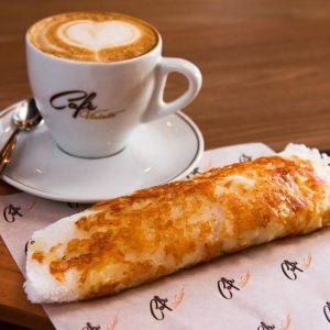 Tapioca com café do Viriato