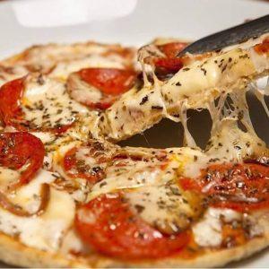 Pizza marguerita do Sabores Orgânicos