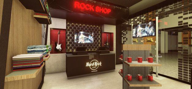 Loja do Hard Rock Café Fortaleza traz produtos inspirados em pontos turísticos locais