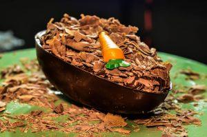 Ovo de bolo de cenoura da La Brasilerie