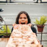 Pizza no metro