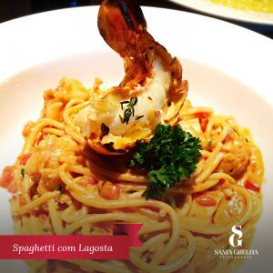 Spaghetti com lagosta